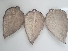 Antique alpacca silver leaves, Spain, 20th century