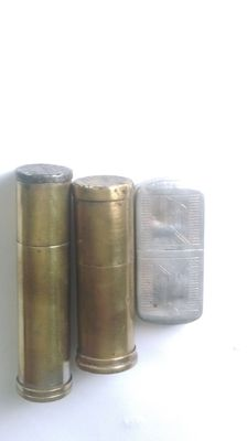 3 TRENCH ART LIGHTERS, POILU WAR 1914/1918 WW1