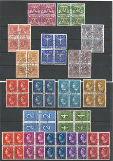 The Netherlands 1934/1950 – Collection official stamps – NVPH D9/D26 in blocks of 4