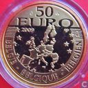 "Belgique 50 euro 2009 (BE) ""500 years edition of Erasmus novel - The praise of folly"""