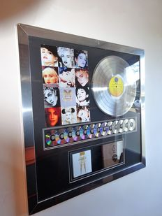 "Madonna 13 Million Platinum Sales Record Award for the Sire album ""The Immaculate Collection"""