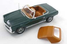 Norev - Scale 1/18 - Mercedes-Benz 230 SL (W113), Pagode 1963 - Colour Moss green