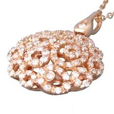 Bedetti 'Fantasia' ['Fantasy'] pendant, 18 kt rose gold, 0.68 ct diamonds