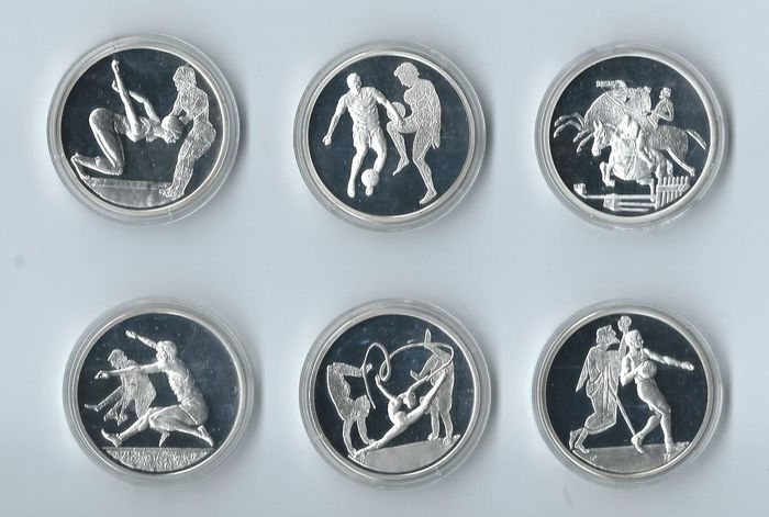 Greece - 10 Euros 2003 and 2004 'Olympic Games of Athens' (6 different coins) - Silver
