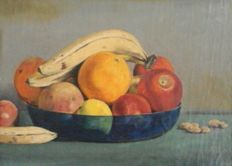 E. Klein Nagelvoort - colourful fruit still life