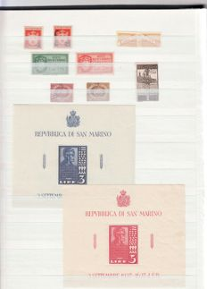 World - lot of stamps, blocks and various in stock books