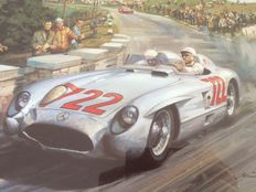 Stirling Moss 1955 Mille Miglia by Michael Turner