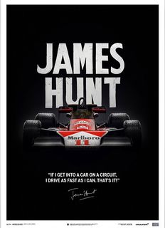 Limited edition McLaren M23 Collection - fine art print - James Hunt - 50 x 70 cm.