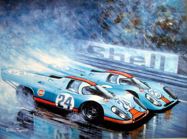 Gulf-Porsche's 917K - Jo Siffert/Pedro Rodriquez/Spa-Franchorchamps 1970 - Beautiful Art Print