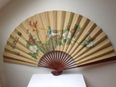 Hand-painted paper fan - China - c. 1950/1960