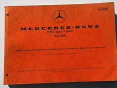 Mercedes Benz - Set of 3 original catalogues - spare parts: Type LP/LAP322 (1960) + Type L206D-306D, 607, 608 (1971) (1968) & index of the repair kit