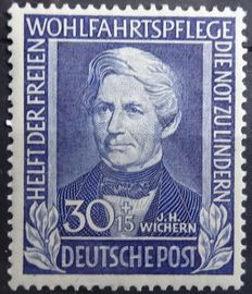 Federal Republic 1949/1955 - Wohlfart and Lufthansa - Selection from Michel 117/225