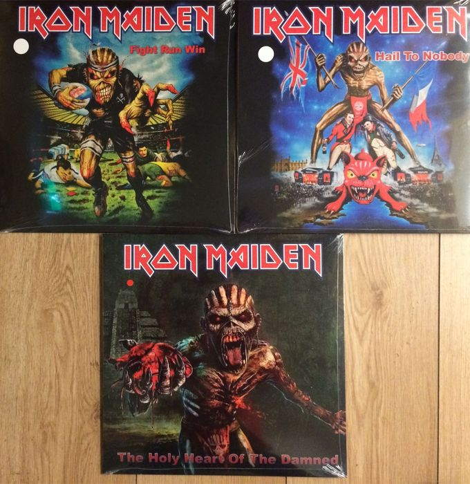Iron Maiden set ||  3 LP's || Still in sealing || Coloured vinyl ||