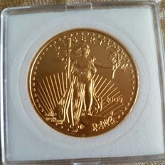 "United States - 50 dollars ""American Golden Eagle"", 2005 oz, 1, gold."