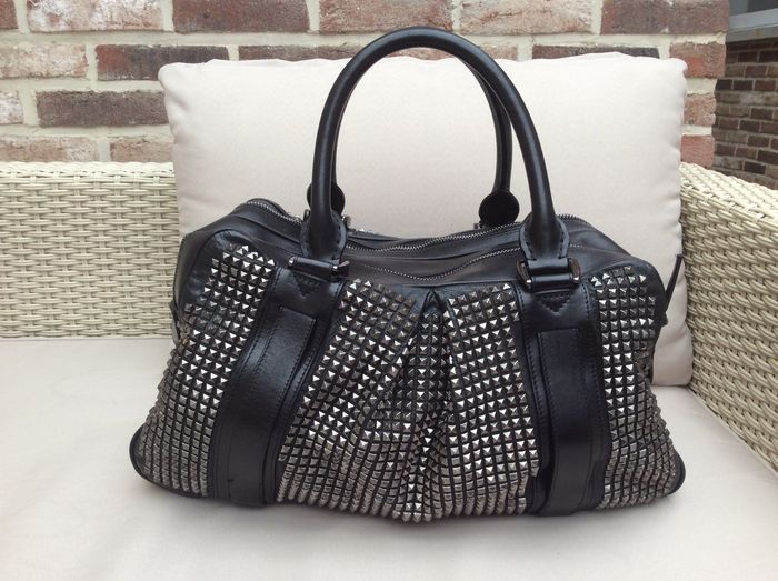 f130b0fa924 Burberry – Prorsum Black Leather Knight Studded Bag – limited edition