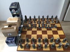 Chess pieces Dragons vs Wizards with Swarovski Crystal