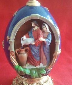 "House of fabergè  "" water into wine "" egg collector numbered signed"