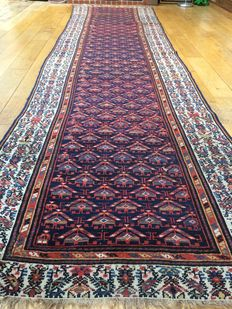Antique Persian Kurdish Runner Rug dated 1901