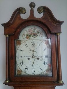 George III oak grandfather clock - English - circa 1800