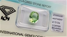 Green Paraiba Tourmaline - 2.72  ct