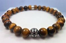 Bracelet in 925 silver with natural tiger's eye