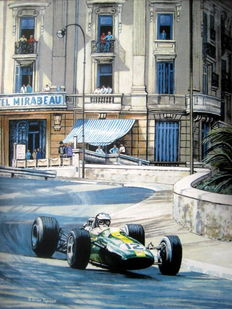 Monaco Grand Prix 1967 - Lotus Climax/Jim Clark - Art Print