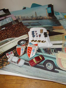 Exclusive NSU - pins, car emblems, clothing emblems, keychains, model cars, posters - 1960s