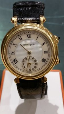 Gerald Genta – Dual time GMT Time Zone – Precious solid gold watch