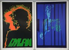 Jimi Hendrix, John Lennon, Bob Dylan: Limited Edition Posters  Signed & numbered, By The Artist: Peter Marsh  - 51cm x 76cm (20 x 30 inches).