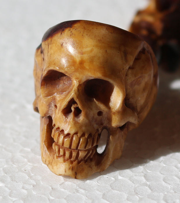 German Skull And Snake Ring