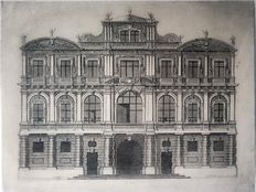 Two architectural prints by E. Nessenthaler (1664 - 1714) and Jean François de Neufforge (1714-1791) - 1686 - 1767