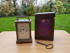 Carriage clock compleet with box - 1920