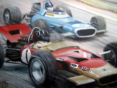 "Fine Art Print - ""Mr Monaco""  Gold Leaf team Lotus 49B/Graham Hill - Monaco Grand Prix 1969"
