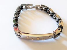 Bracelet - Essenza Design - New - Steel and 18 kt gold