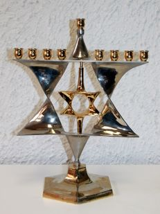 Chanukah / Menorah in Chromed material