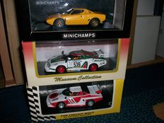 Minichamps / Kyosho - Scale 1/43 - Lot with 3 models: 3 x Lancia Stratos
