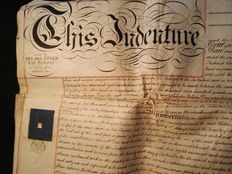 Manuscripts; Notarial deed (indenture) for the sale of a house in London - 1872