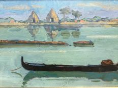 Unknown artist (20th century) - Laguna veneta in estate