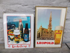 2 advertising signs. Elberg and Leopold - 1950.