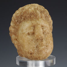 Roman alabaster head of young man - 73,5 x 57 x 60 mm