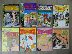 Underground Comics - Tales of Sex and Death, Tits & Clits (sorry folks!), Uncle Sham, Wimmen's Comix, Young Lust, Zap Comix and more - 40x sc - (1970 / 1995)