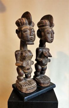 Little pair of ancestors - KULANGO - Ivory Coast