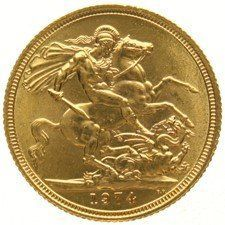 England - Sovereign 1974, Elizabeth II - gold