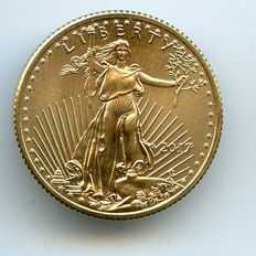 "United States - 10 dollars ""American Golden Eagle"", 1/4 oz, 2017, gold."