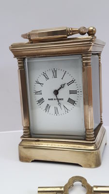 Brass travel clock Hands - 2nd half of the 20th century