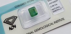 Emerald - 2.88 ct  - No reserve