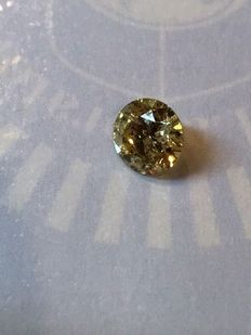 1.63 ct Round Brilliant  Fancy  Yellow SI3  AIG lab