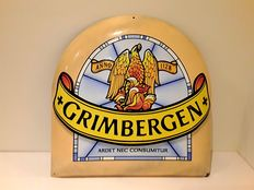 Grimbergen - enamel advertising sign - late 20th / early 21st century.