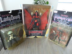 Lady Death (1x) and Purgatory (2x) - 3 Action figures - (1997 / 2000)
