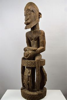 Large Binu Priest Statue - DOGON - Mali